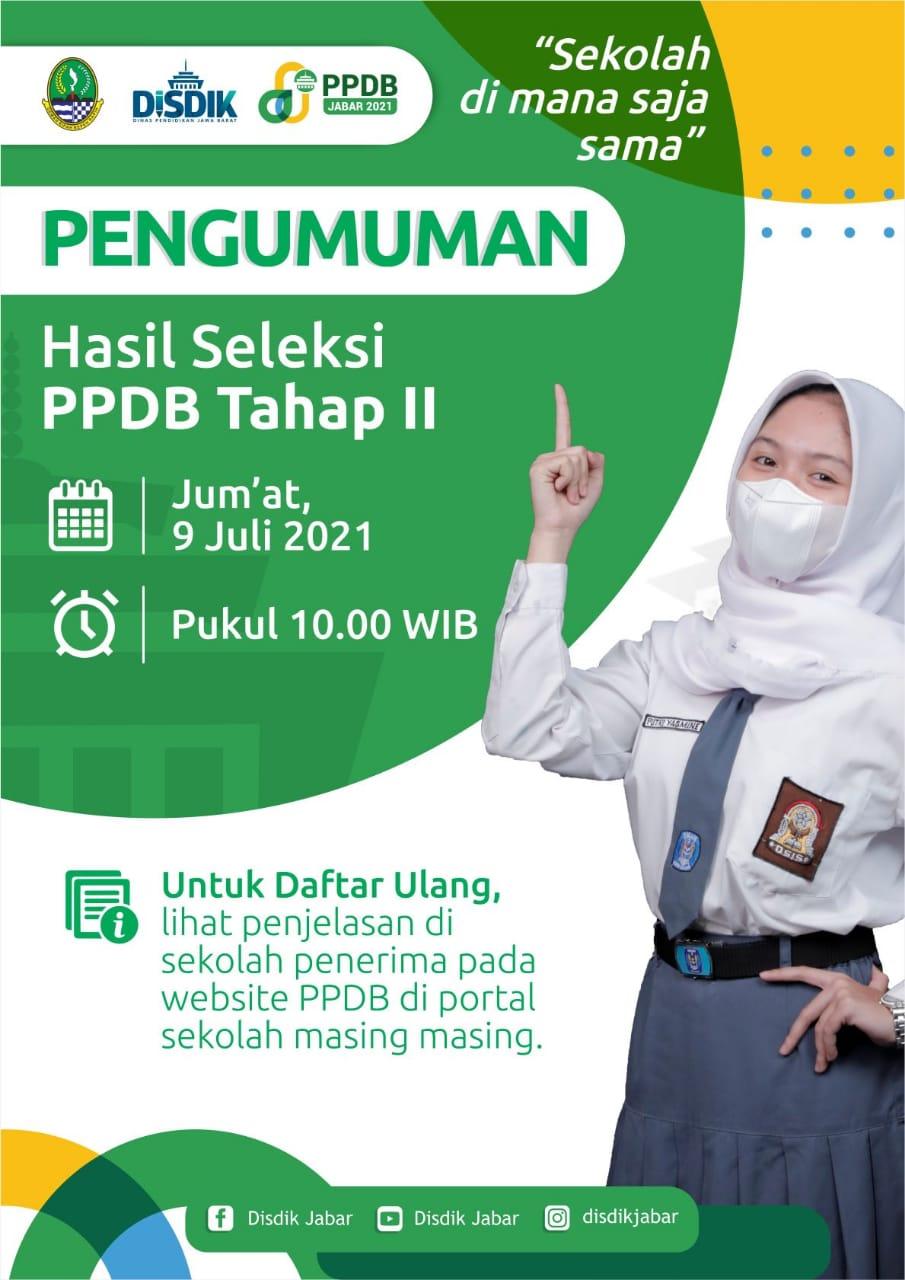 Info pengumuman PPDB tahap 2 SMKN 2 Setu